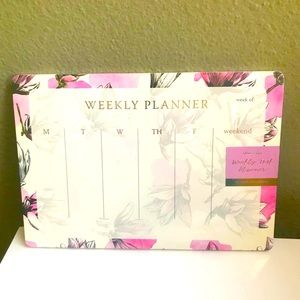 Office Envy Weekly Desk Planner NWT Boho Floral